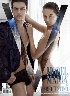 Matthew Terry & Bridget Malcolm by Mario Testino | V | Homotography