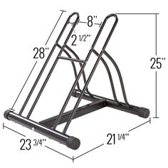 Abyss 2-Bike Floor Stand Dimensions