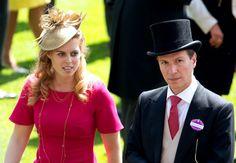 royalhats:  Royal Ascot 2014, Day 5, June 21, 2014-Princess Beatrice and boyfriend Dave Clark