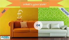 What's your choice for perfect look of ‪#‎LivingRoom‬-Wallpaper or Paint. ‪#‎HomeDecor‬ ‪#‎PerfectWalls‬ ‪#‎DreamHome‬