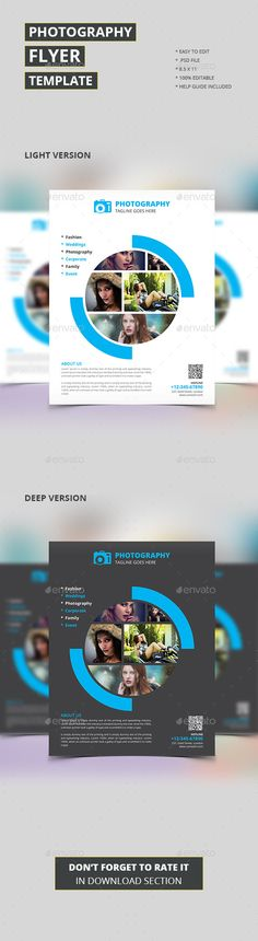 Photography Flyer Template #design Download: http://graphicriver.net/item/photography-flyer/12811001?ref=ksioks
