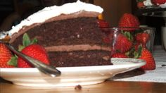 Anne Of Green Gables Chocolate Goblins Food Cake Recipe - Genius Kitchen Vanilla Extract Nutrition, Cherry Cake Recipe, Chocolate Fudge Frosting, Chocolate Cakes, Unsweetened Chocolate, My Best Recipe, Round Cake Pans, Anne Of Green Gables, Vegetarian Chocolate