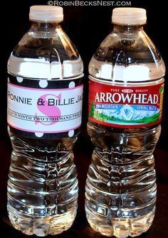 Make your own personalized water bottle labels    Water Bottle Labels    Pinterest   Water bottle labels  Water bottles and BottleMake your own personalized water bottle labels    Water Bottle  . Diy Wedding Water Bottle Labels. Home Design Ideas