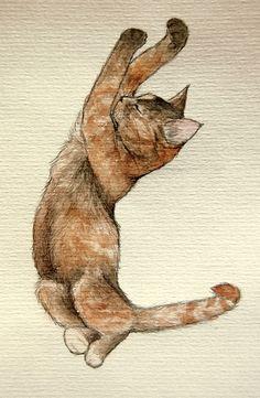 Tableau chat relax 2 0d87bce2b32332ab0076db587a3eea48 mc cat illustrations