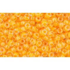 """CC801 - TOHO BEADS 2.2MM LUMINOUS NEON TANGERINE (10g)  TOHO means """"Eastern Treasure"""". Renowned for the consistency in colour and size, Toho seed beads are perfect for bead weaving, bead loom work and bead stringing. £1.41"""