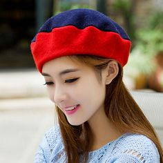 Fashion French beret hat for women spell color design