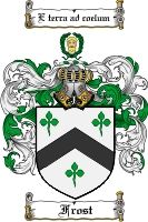 $8.99  for Frost Family Crest  Frost Coat of Arms