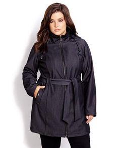 Denim Look Softshell Jacket | Addition Elle
