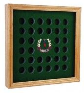 Personalized Golf Ball Display Case With Plexiglas Cover Small