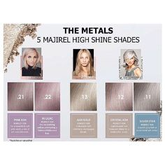 FIVE exciting new Majirel shades available NOW ! New METALS ⚙⛓ #Majirel #lorealpro #lorealprofessionnel #loreal #hair #metallic #metal #colour #lilachair #silverhair #pinkhair @lorealpro @lorealprouk posted 11:30am 10/09/2017.