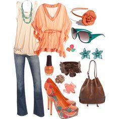 Orange & Shoe Love, created by smgilreath.polyvore.com