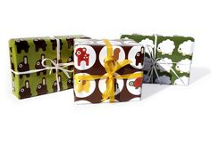 Giftwrap Sets – fanteria Wrapping Paper Set – a unique product by fanteria on DaWanda