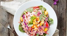 Warm Cabbage Salad with Crispy Tofu   Recipe   Crispy Tofu, Cabbage ...