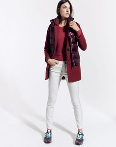J.Crew women's shiny puffer vest and sateen toothpick pant. - just got this vest and it's gorgeous in person.