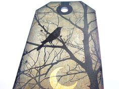 Gothic Tags   Set of 8   Raven Tags  Night Scenes  by SiriusFun