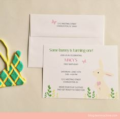 The special invitations for Macy's party! Specially designed by Leen Machine on Etsy - http://leenmachine.etsy.com LOVE!