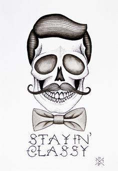 skull + mustache #skulls #mustache #movember