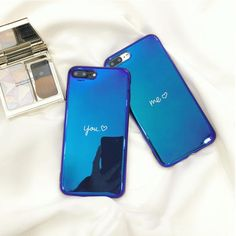 Me and You iPhone Case for couples. Stunning Blue Mirror Back iPhone case.  #iphone #iphonecase #iphone7plus #new #trendingnow #love #couples #cute #lovely