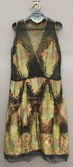 Erte evening dress, 1920s front