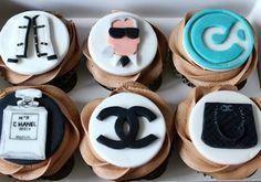 Custom Chanel Cupcakes www.cakesbyyolk.com