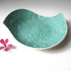 Large ceramic bird plate