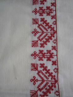 Jämsän Martat ry: 29.1.13 Perinnekäsityöt Beaded Embroidery, Cross Stitch Embroidery, Scandinavian Embroidery, Kutch Work Designs, Old Symbols, Blackwork, Knots, Weaving, Delicate