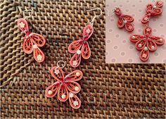 classy chic - Paper quilled jewellery is a delicately handcrafted jewellery. It takes a lot of time to make such delicate paper jewellery which is made of thin strips of paper rolled and embellished with stones and pearls www.facebook.com/craftstruck craftstruck2012@gmail.com #craftstruckdesignstudio #quilled jewellery #paperfilgree #quilling #quilledart Paper Bead Jewelry, Quilling Jewelry, Paper Beads, Paper Quilling, Beaded Jewelry, Beaded Necklace, Truck Design, Classy Chic, Handcrafted Jewelry