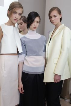 Backstage at Jil Sander RTW Spring 2014 [Photo by Kuba Dabrowski]