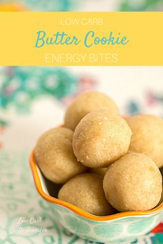 These low carb energy bites are buttery, sweet, and a little salty...but only 2 net carbs!