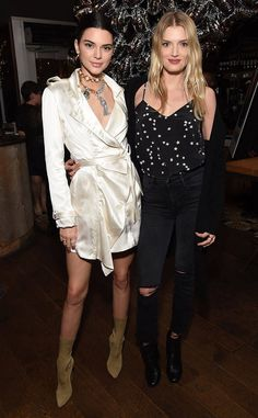 Kendall Jenner & Lily Donaldson from The Big Picture: Today's Hot Photos  Model behavior! The gorgeous gals pose during an event in Los Angeles.