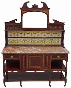 Antique Maple and Co mahogany marble washstand or dressing table 4148 4148 | ANTIQUES.CO.UK |