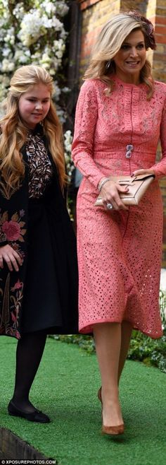 King Willem Alexander, Queen Maxima and their daughters attended the wedding of Filippos Lemos and Marianna Goulandris in London