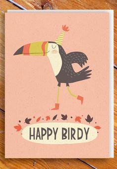 Happy Birdy card