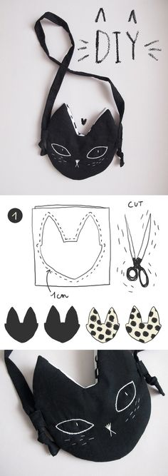 DIY Kitty pouch - adorable