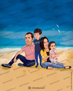 Family caricature, Qatari caricature, Custom Caricatures illustration from photos, Indian caricature, Caricature Wedding Gifts, Caricature Invite, guests sign in board, baby girl, baby girl, nitisebanart Wedding Caricature, Invite, Invitations, Caricatures, Wedding Gifts, Sign, Photo And Video, Board, Illustration