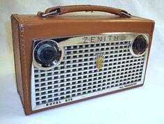 Zeneith transistor radio - This looks like the radio my grandparents listened to baseball on.