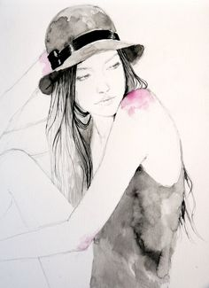 girl with a hat by thecatspaw.deviantart.com on @deviantART
