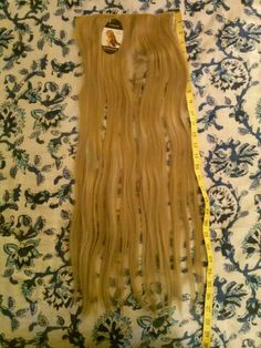 """Clip in Hair Extension 26"""" straight Ash Blonde real natural style Hot Iron Styling"""