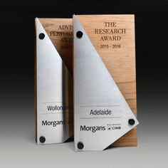 Morgans CIMB Research Award as Stainess and Plywood Trophies   Master Engraving