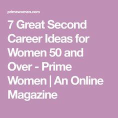 Second career ideas over 50