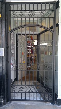 RSG3000 security door gate  fitted at the entrance of a retail outlet in East London.