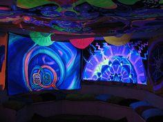 blacklight party room
