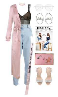 """""""i don't know you"""" by mikaylaperrine ❤ liked on Polyvore featuring Moschino, Au Jour Le Jour, Charlotte Russe, Giuseppe Zanotti, Disney Couture and Prism"""