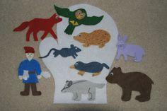 The Mitten Children Story Flannel board Felt set