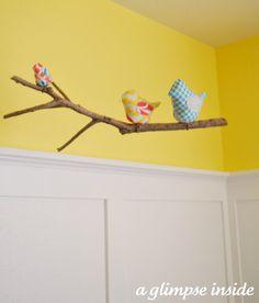 A Glimpse Inside: Nursery Project #2: Fabric Bird Mobile Tutorial