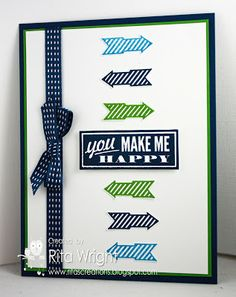 Stamps: Hello, Lovely Ink:  Gumball Green, Marina Mist, Midnight Muse Paper:  Midnight Muse, Gumball Green, Whisper White Accessories:  Midnight Muse stitched ribbon