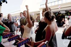 Winners! Bridal party playing at the Jenkinson's Boardwalk in Point Pleasant, NJ