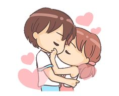 LINE Creators' Stickers - Love Expressions Example with GIF Animation Love Cartoon Couple, Cute Cartoon Pictures, Cute Love Cartoons, Anime Love Couple, Hug Love Gif, Hug Gif, Love Images With Name, Cute Love Pictures, Gif Lindos