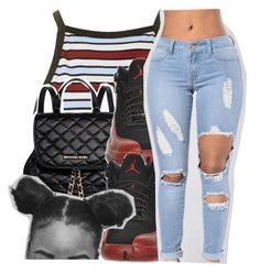 """""""ootd. ."""" by glowithbria ❤ liked on Polyvore featuring Motel, MICHAEL Michael Kors and Retrò"""