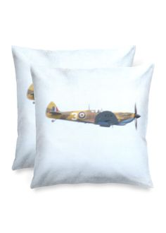 Spitfire Cushions: A modern, bright accent with an artist's touch. Each pillow cover is crafted from 100% organic cotton and makes an elegant addition to any room. Pillow insert not included., Create your perfect space with 100% organic cotton square accent pillows. Each of these statement pieces features original art. Insert not included., Channel your inner interior designer with our classic square accent pillows. Available in luster or matte finish.